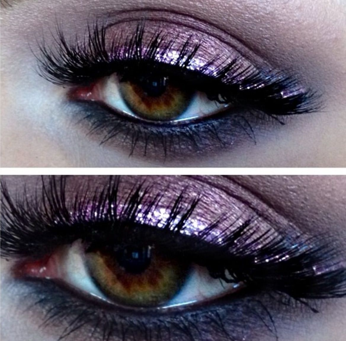 Stunning purple plum radiant orchid shimmer eyeshadow eye