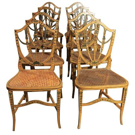 English Regency Period Painted Chairs Painted Furniture Frenzy