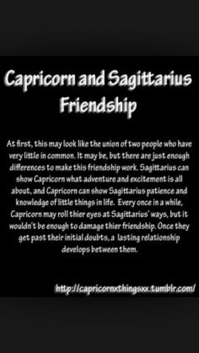 Capricorn man and sagittarius woman friendship