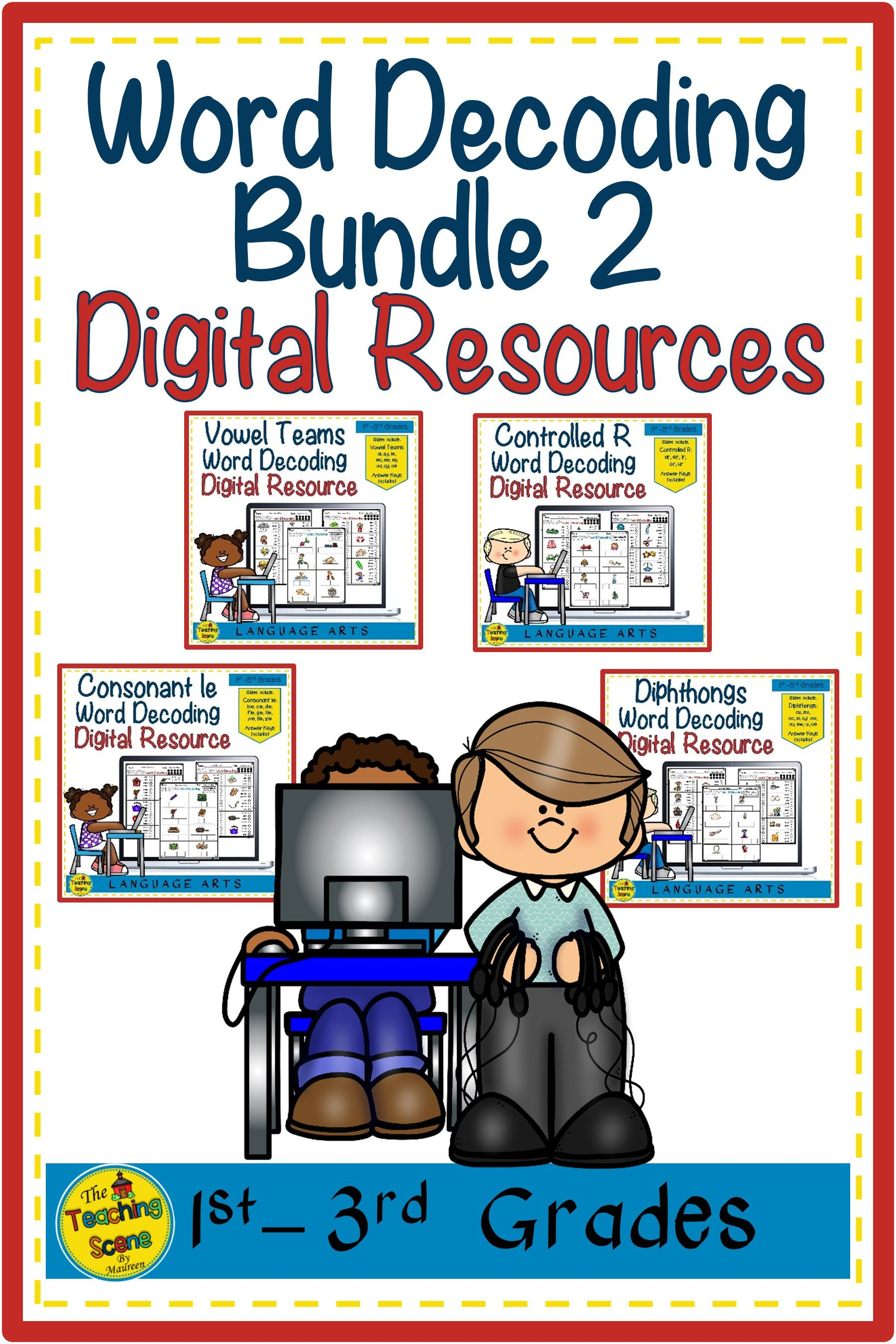 Digital Slides Word Decoding Bundle 2 Worksheets