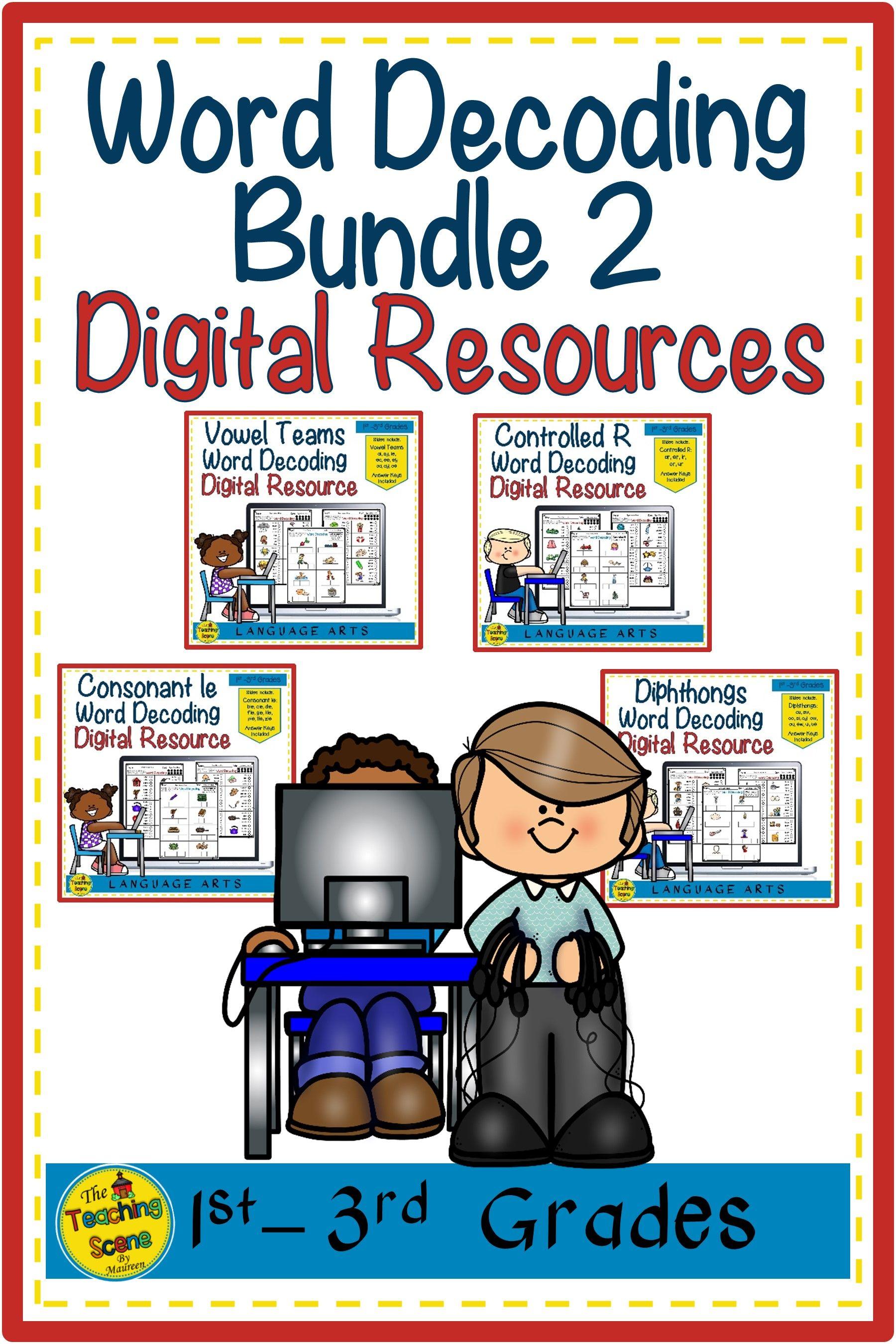 Digital Slides Word Decoding Bundle 2 Worksheets