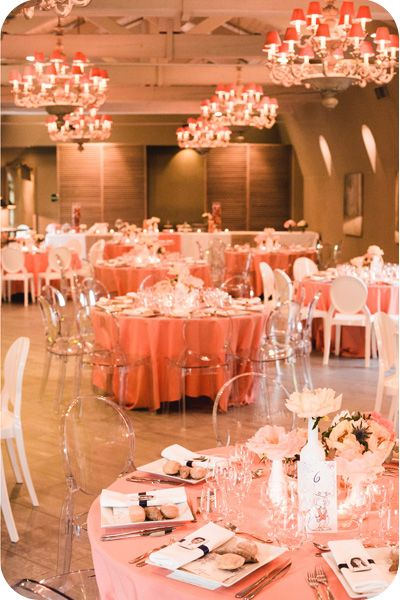 decoration mariage corail