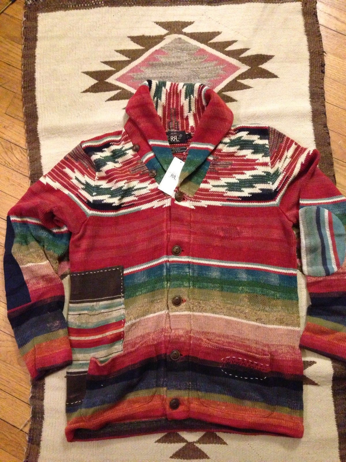 14052af0b RRL Navajo Serape Shawl Cardigan Splash   Splashy Splash   Places to ...