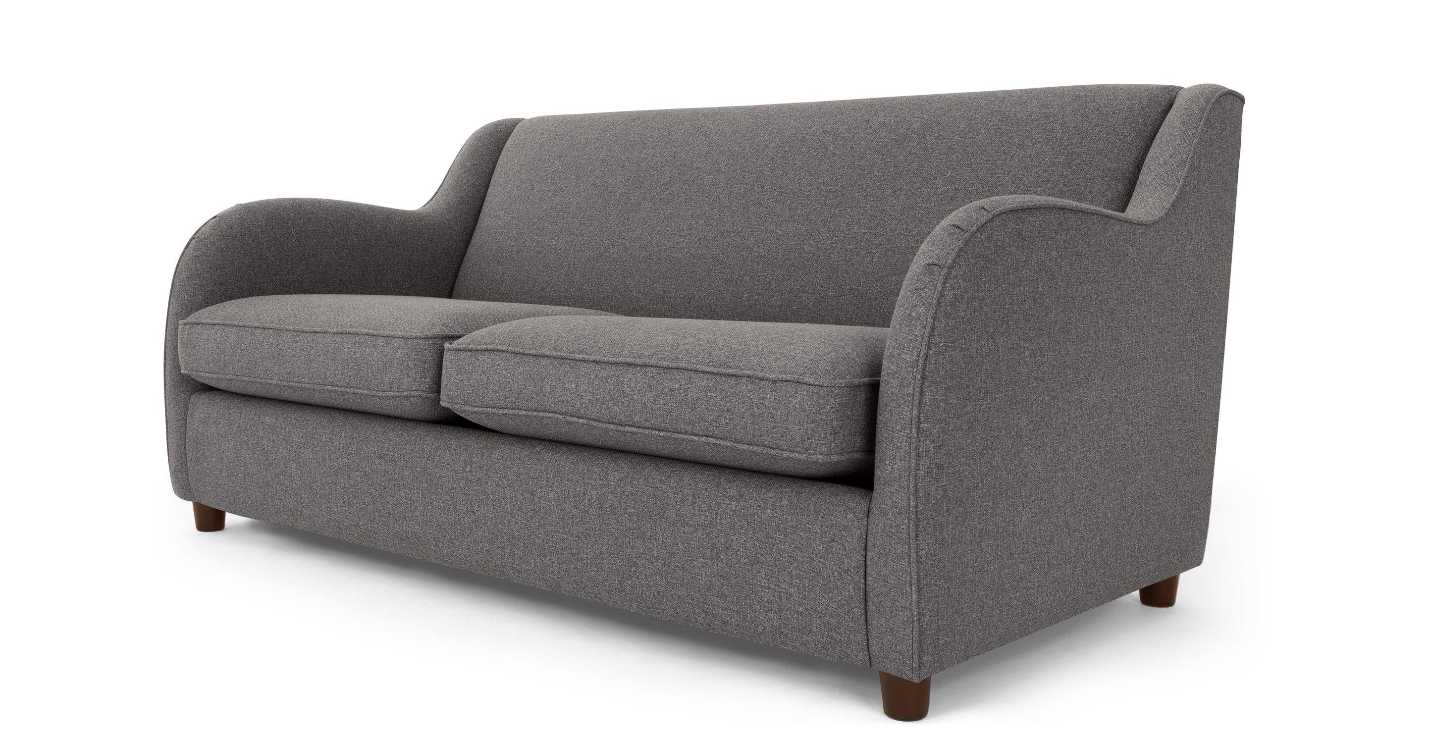Helena Sofabed Textured Weave Smoke Grey Stylish Sofa Sofa Bed Smoke Grey