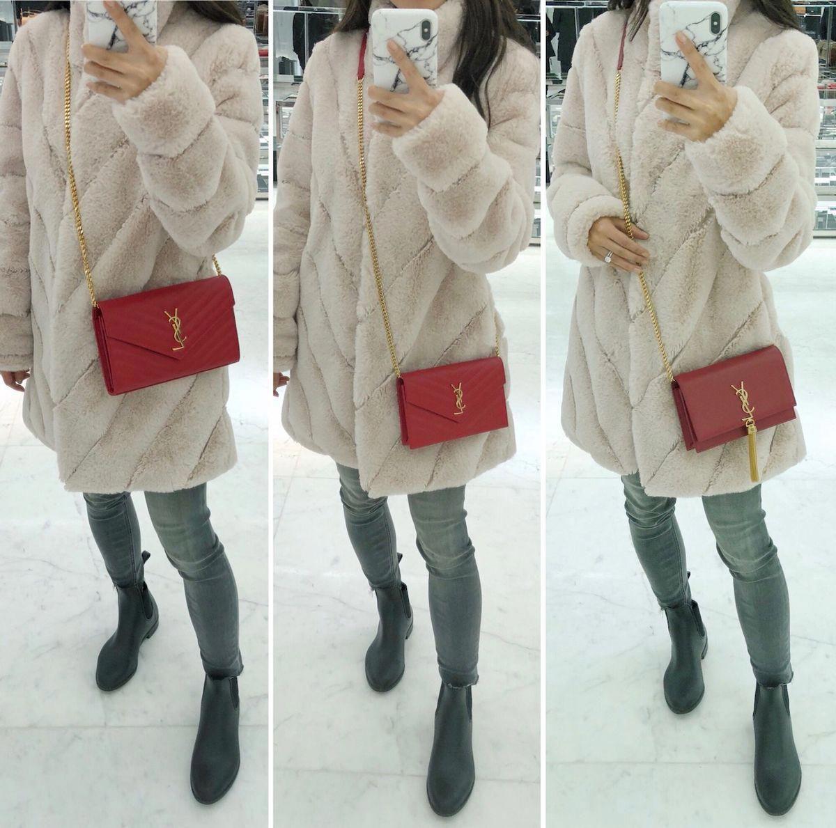 Purse Review    YSL Saint Laurent wallet on chain + kate tassel bag size  reviews  Designerhandbags e09f15851f7c6