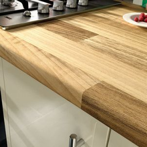 Wickes Laminate Worktop - Blocked Oak Effect 3000 x 600 x ...