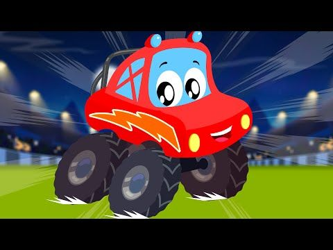 Little Red Car Rhymes We Are The Monster Trucks Little Red Car Car Song For Kids Todd In 2020 Monster Trucks Kids Songs Red Car