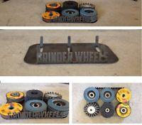 "4 1//2/"" Grinder and Wheel Combo Rack DeWalt Milwaukee Storage For 3 Grinders"