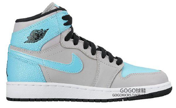 light blue jordans 1