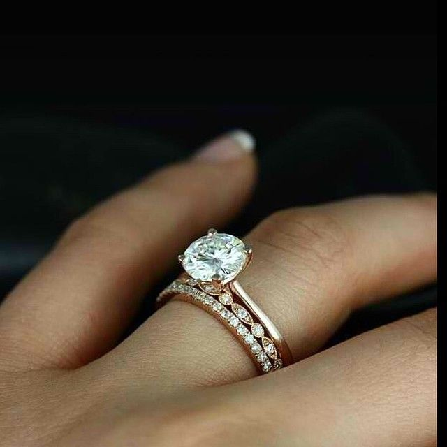 Rose Gold Engagement Ring By Forever Diamonds Ny Stackable