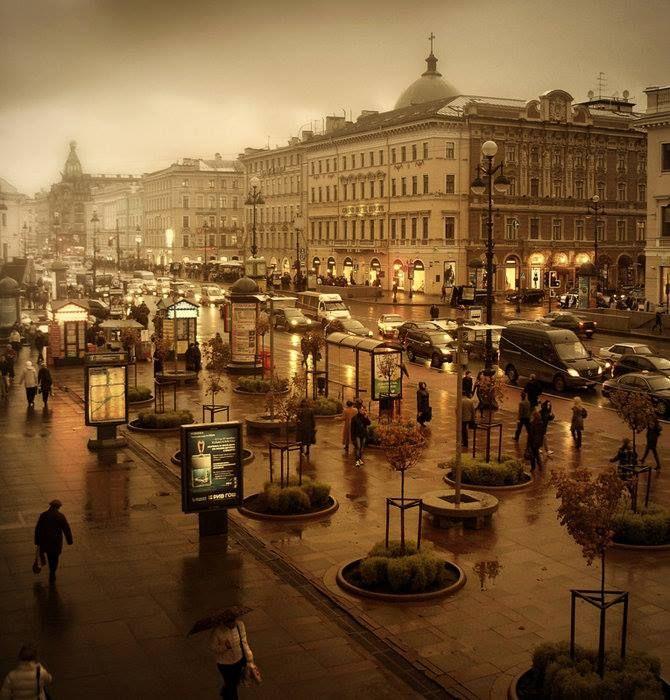 Nevski Prospekt. St. Petersbourgh