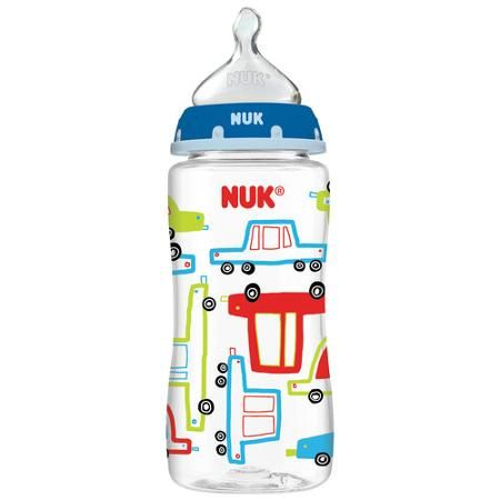 NUK Transportation Orthodontic Bottle, 10 oz