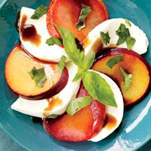 Pluot Caprese Salad