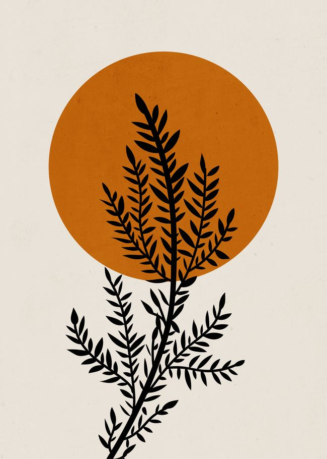Minimal branch Art Print by doubled94