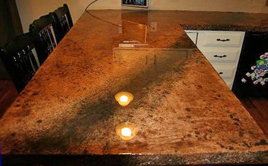 Superb Stained Concrete Bar In Austin