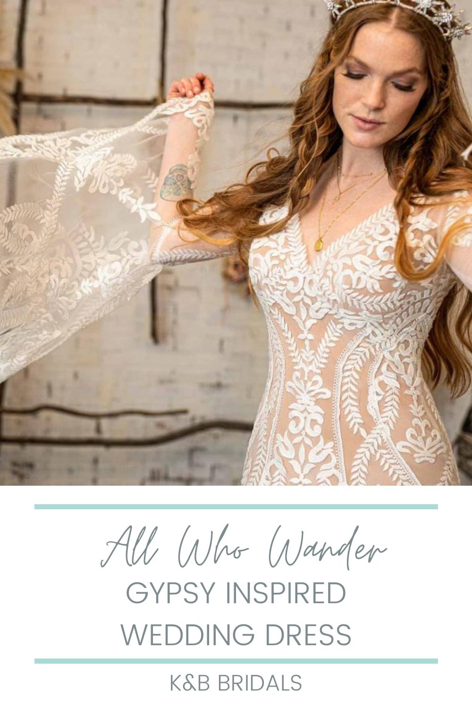 All Who Wander Boho Wedding Dresses K B Bridals Wedding Dresses Dresses Boho Wedding Dress [ 1500 x 1000 Pixel ]