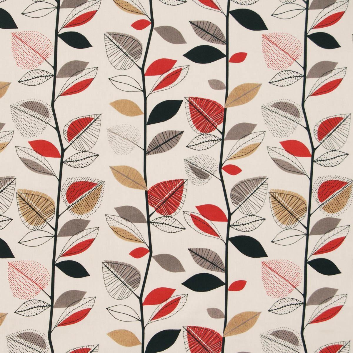 Autumn Leaves Curtain Fabric Red Berry Con Immagini Foglie Che
