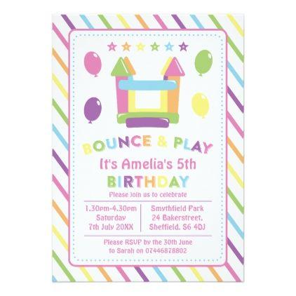 Bounce house themed birthday party invitation bounce house themed birthday party invitation birthday invitations stopboris Images