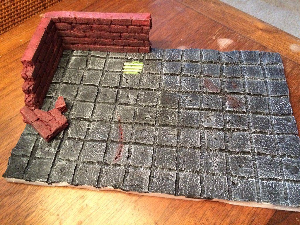 DIY styrofoam Dungeon Tiles | Dungeon Tiles | Dungeon tiles