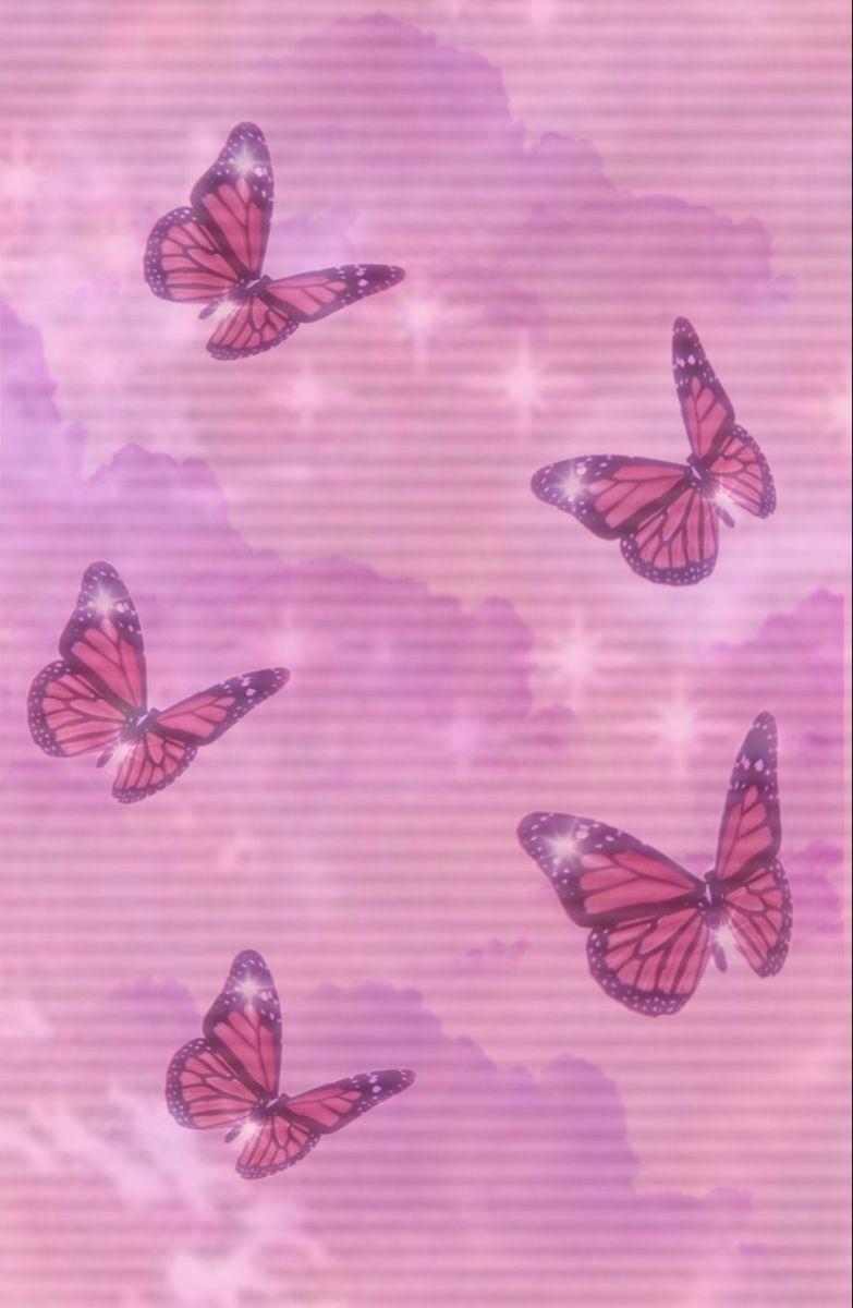 Pink Butterfly Wallpaper Butterfly Wallpaper Pink Wallpaper Iphone Iphone Wallpaper Girly