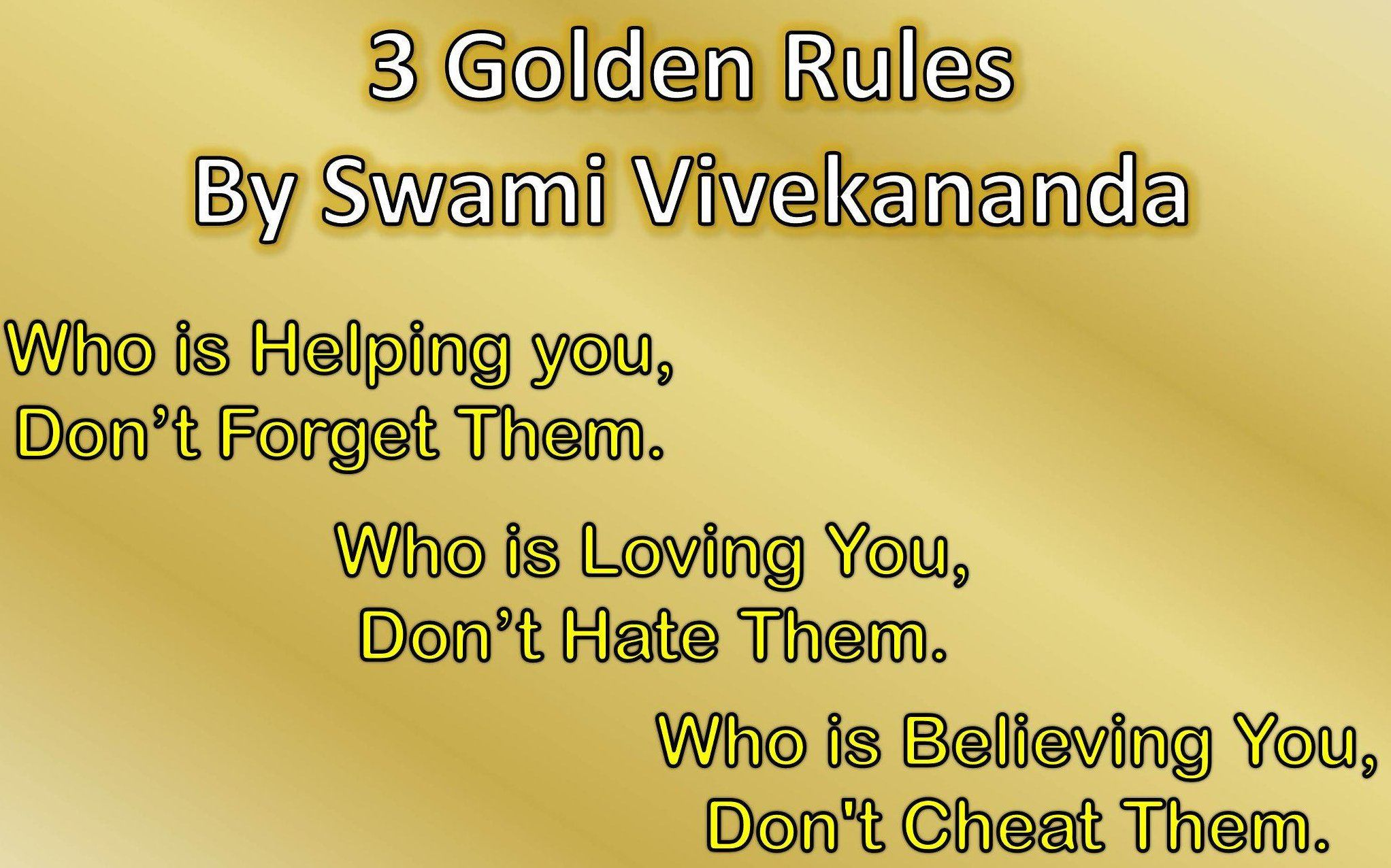 Sayings About Golden Rules