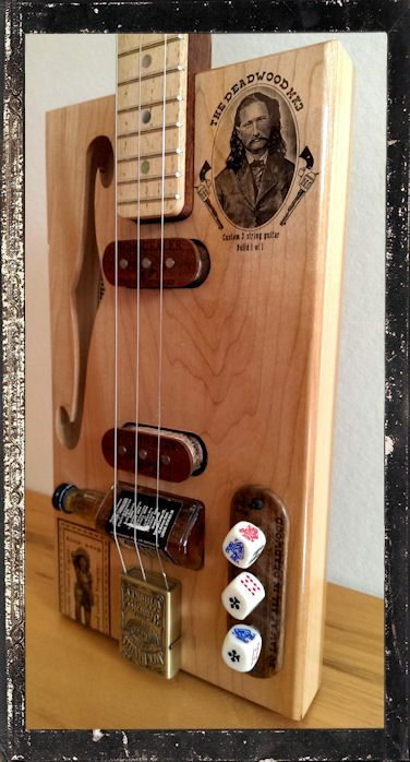 how to make a 6 string acoustic cigar box guitar