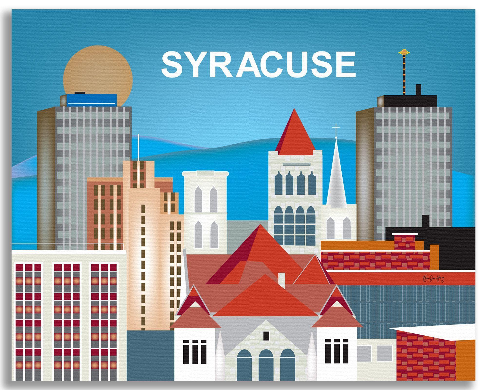 Syracuse, New York in 2020 Syracuse new york, Art print