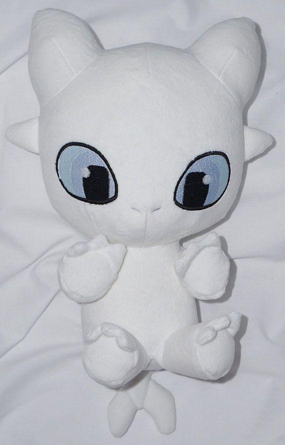 b13299426d4 Kawaii Light Fury Toothless Dragon Plush Toy