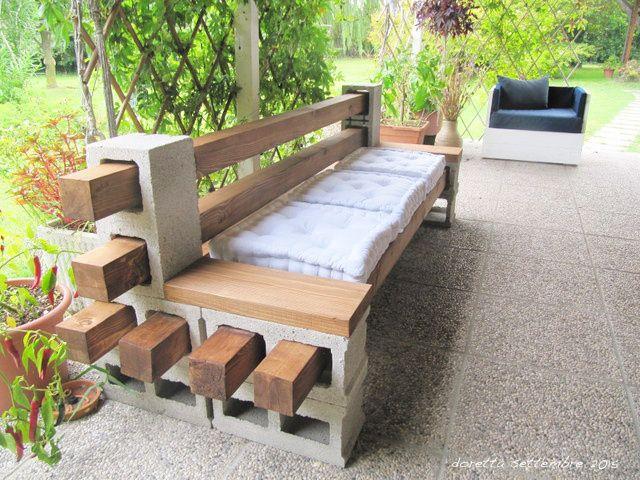 Come Fare Un Tavolo Da Giardino In Legno.Abbelliamo I Nostri Giardini Con Semplici Mattoni Panchine Da