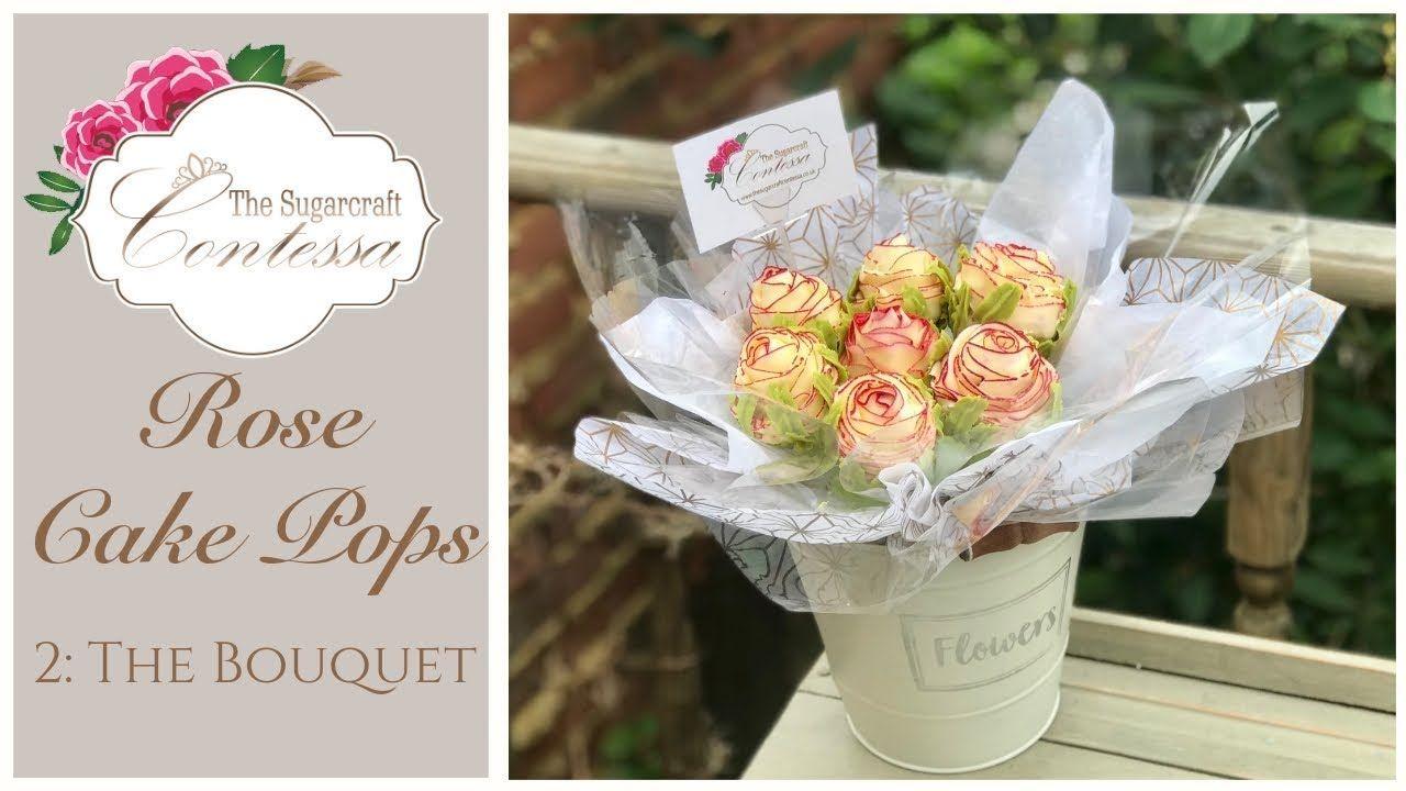 Buttercream Rose Cake Pop Bouquet Tutorial -  Part 2 - YouTube #cakepopbouquet