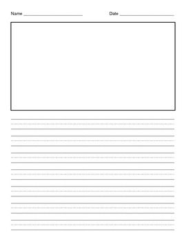 Lined Paper With Illustration Box Lined Paper Writing Paper Neat Handwriting