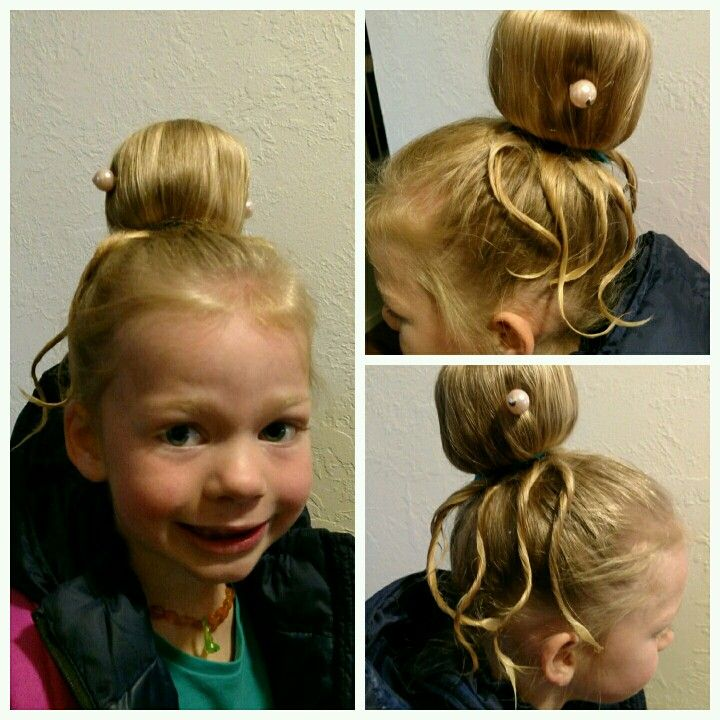 Octopus Bun For Crazy Hair Day Crazy Hair Crazy Hair Days Hair Styles