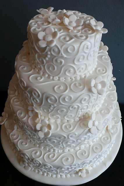 White Swirls Wedding Cake | Flickr - Photo Sharing!