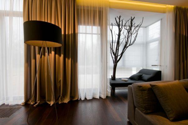 Schiebevorhang in Braun - männliche Eleganz und Privatheit -   - farbideen wohnzimmer braun