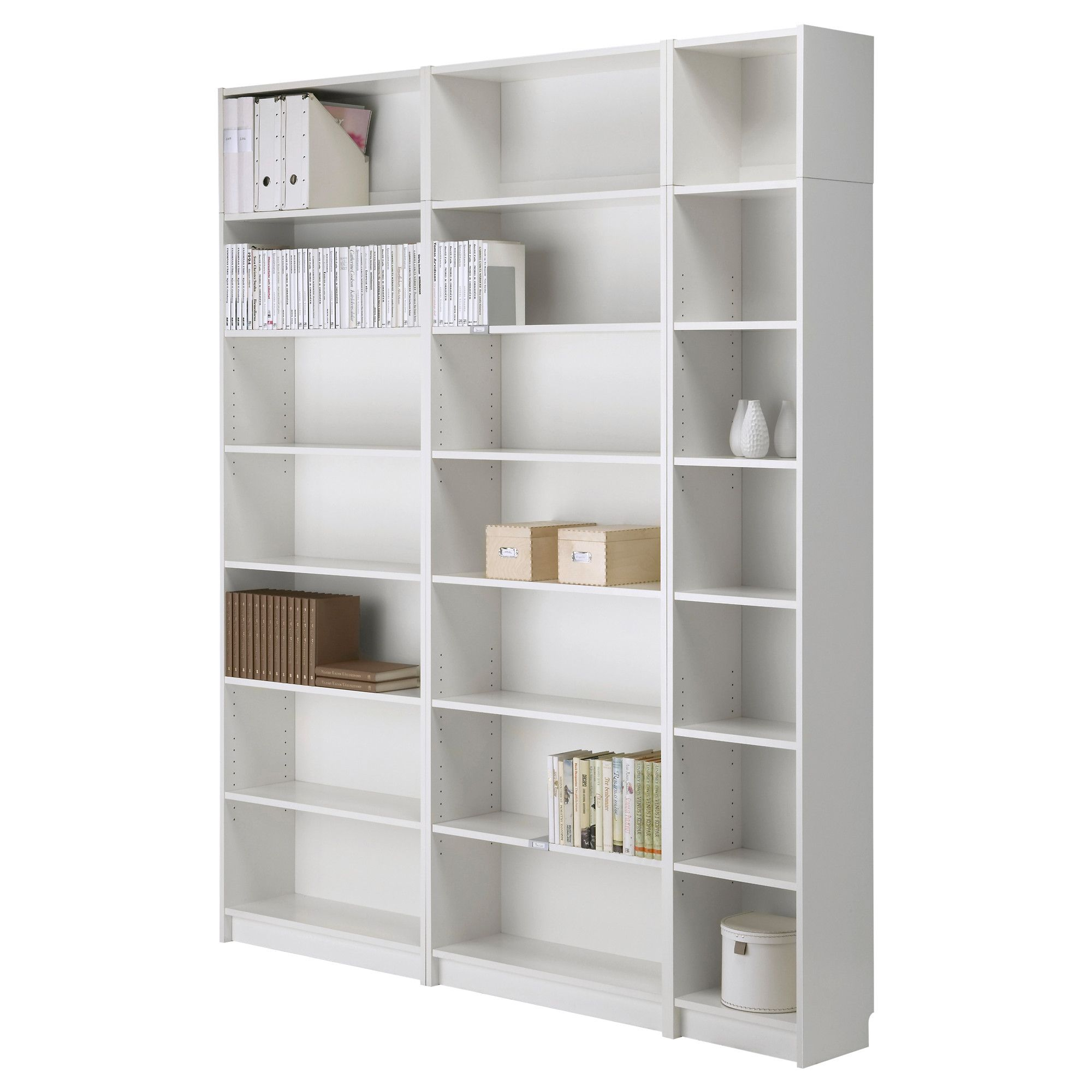 Billy Bookcase With Height Extension Unit White Width 78 Depth 11 93 200 Cm 28 237