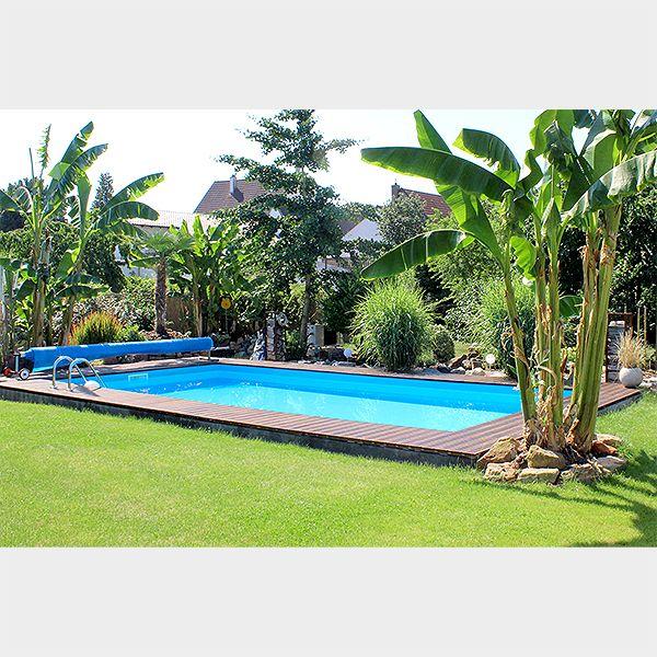 pool im einem grünen paradiesgarten am eigenen pool entspannen, Garten und erstellen