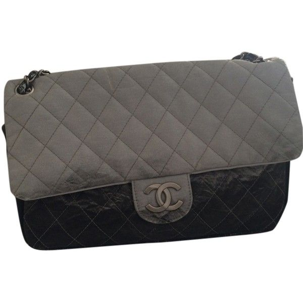 067c5a3b196a Pre-owned Chanel Melrose Degrade Jumbo Flap Gray Ombre Shoulder Bag  ($1,308) ❤