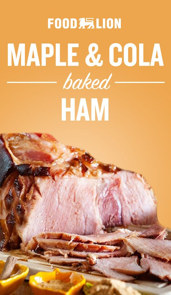Baked Ham with Cola & Maple Glaze #seafooddishes
