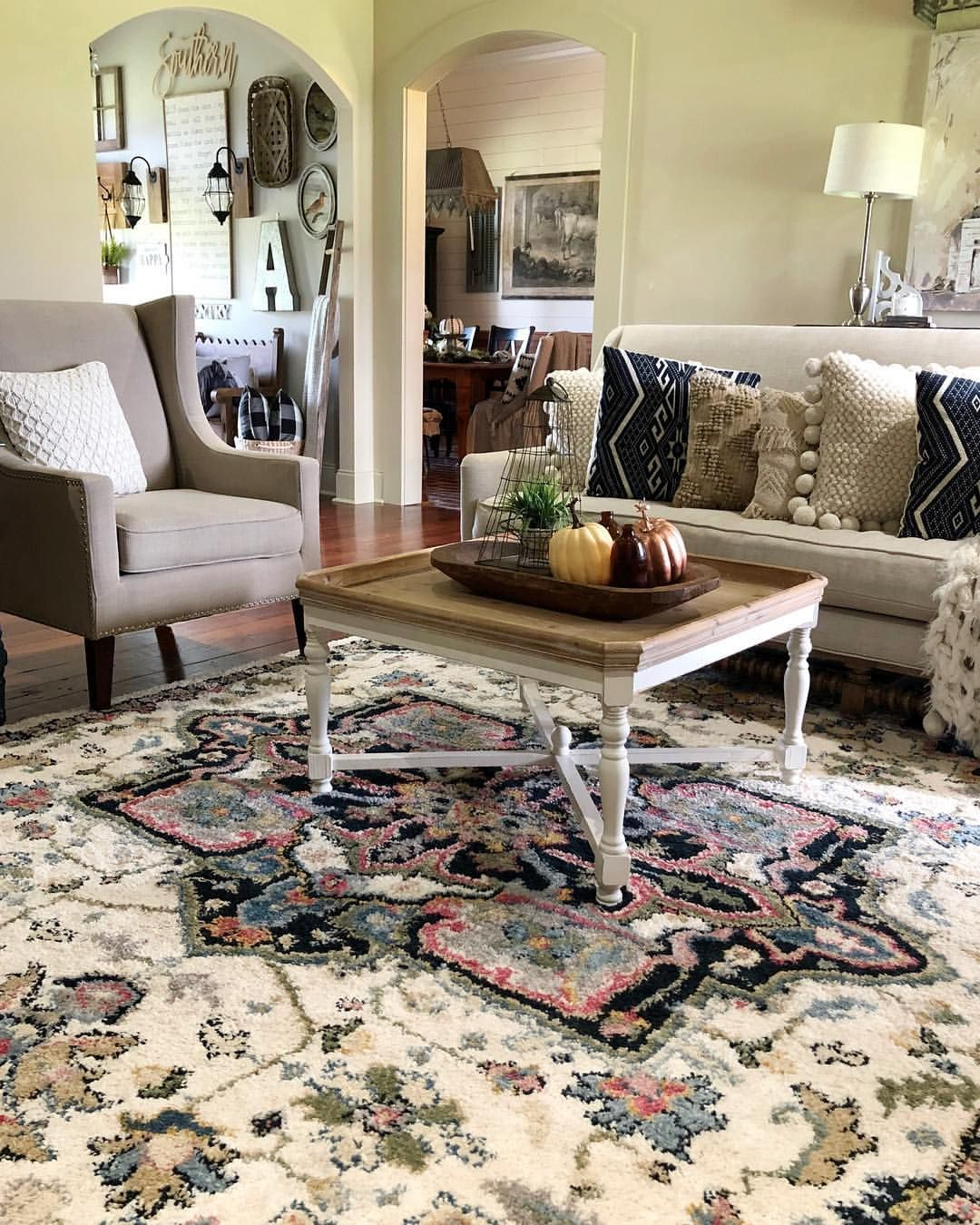 Farmhouse Style Area Rug Living Room Modern Farmh