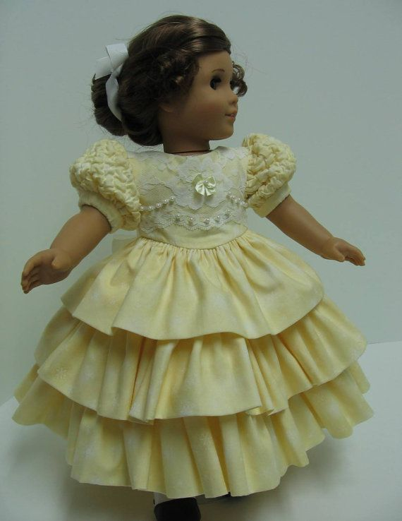 Reserved for US 1980 Yellow Promenade Dress for Mattel American Girl Dolls #dressesfromthesouthernbelleera