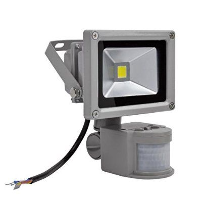 10W LED 投光器 屋外 LED ライト センサーライト PSE認証済み 照明 作業灯 防水 昼光色(6000K-6500K) 1個セット