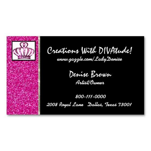 Unique bling business card idea lovin the bling cute little unique bling business card idea lovin the bling cute little crown colourmoves