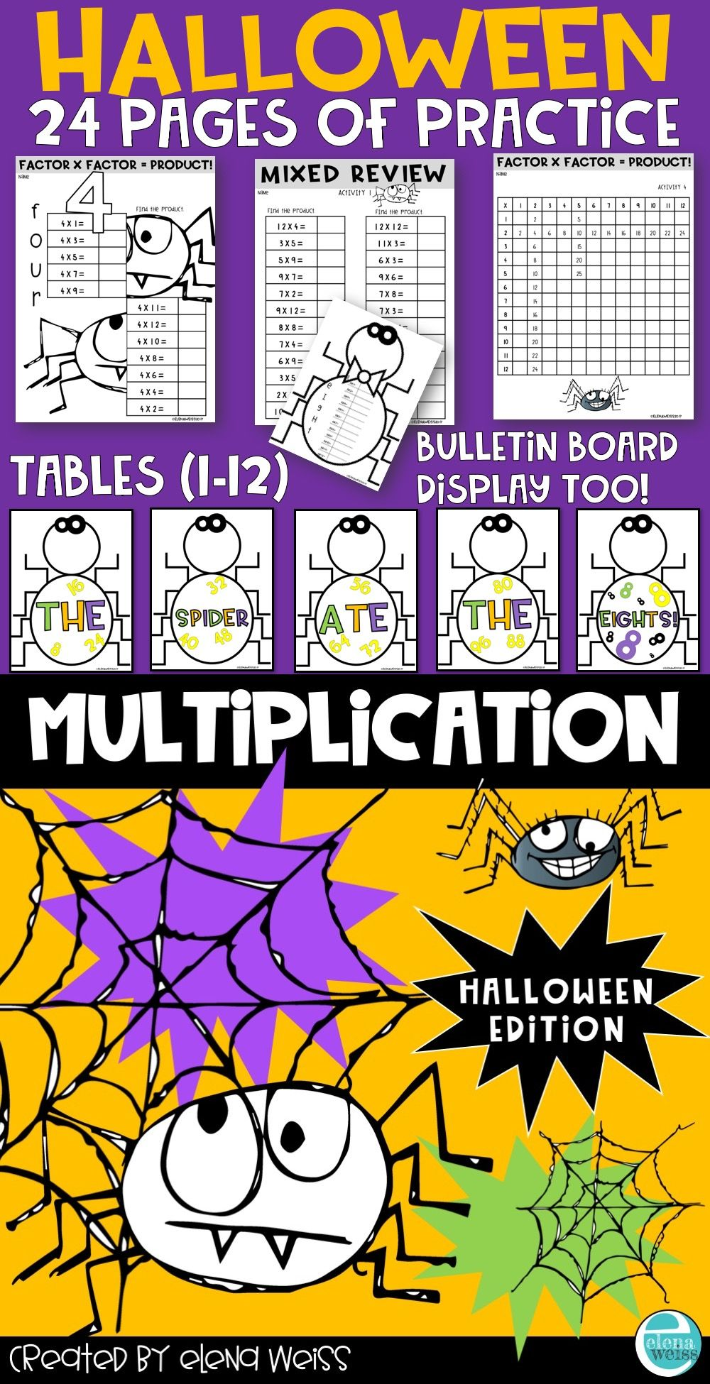 Halloween Multiplication Facts Practice