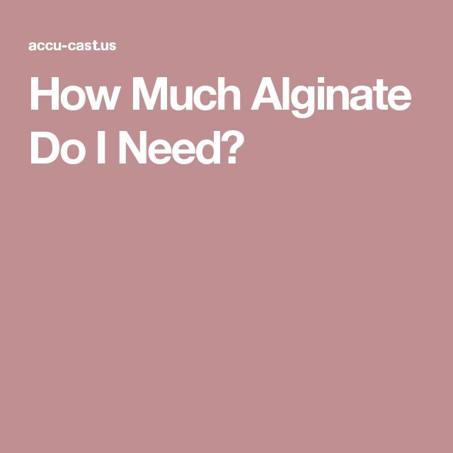 How Much Alginate Do I Need? | Molding powder | It cast