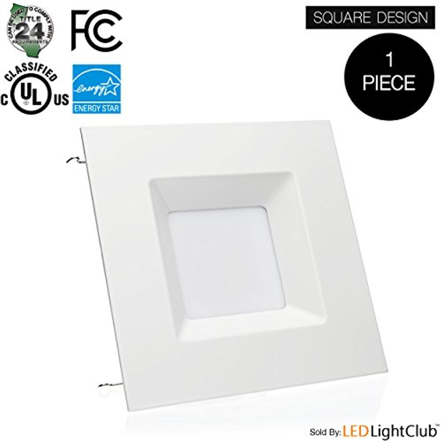 6 Inch Led Square Downlight Led Trim 15w Square Recessed Light Retrofit Led Recessed Lighting Fixture Dimmable Re Downlights Recessed Lighting Energy Star