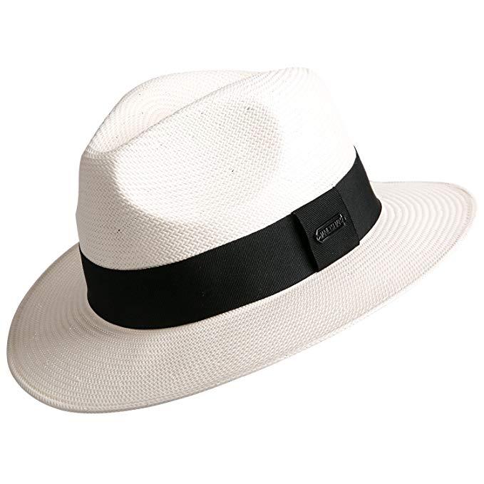 Janetshats Gambler Panama Straw Hat Fedora Hats For Men Imported White Japanese Paper At Amazon Men S Clothing Store Hats For Men Fedora Hat Men Fedora Hat