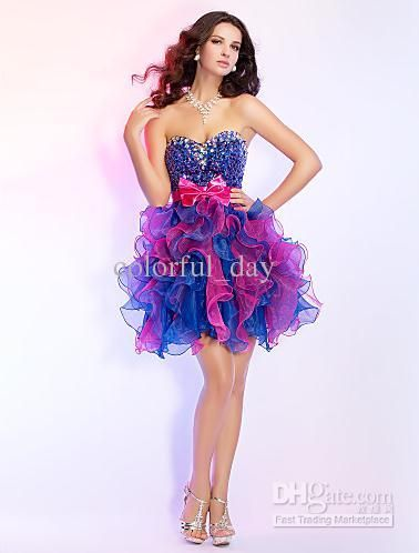 78 Best images about Short puffy prom dresses on Pinterest - Prom ...