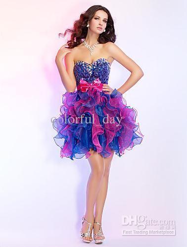 Colorful Graduation Dresses