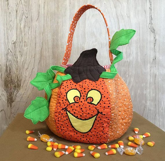Halloween Pumpkin Trick or Treat Bag, Jack-o-Lantern Centerpiece - halloween centerpiece