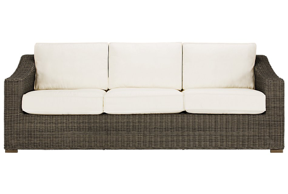 Canyon Gray White Sofa White Sofas Sofa Outdoor Sofa